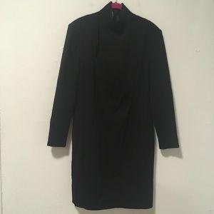 Chloe Black Mock Neck Long Sleeve Mini Dress L
